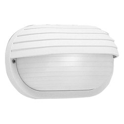 Progress Lighting - Progress Lighting Polycarbonate Wall / Ceiling Surface Mount X-03-6075P - This Progress Lighting wall sconce can also double as a ceiling mount, which adds to its overall appeal. It features a UV stabilized White finish and white ribbed polycarbonate shade, making it ideal for use in outdoor locations. This nautical inspired design has been UL listed for wet locations.