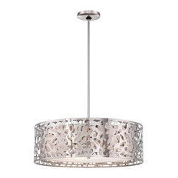 Kovacs - Kovacs P7986-077 4 Light Drum Pendant from the Layover Collection - Four Light Drum Pendant from the Layover CollectionFeatures: