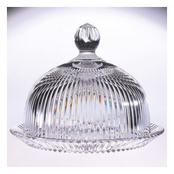 "Godinger Silver - Deco Covered Crystal Cake Plate - Display your cakes in elegance and grace with our magnificent crystal domed cake plate as your table centerpiece! Whether mom is a great baker, or relies on the neighborhood stores, her cakes and pastries will look great on our high quality domed plate. The timeless design of this ribbed cakes plate is perfect for any home and makes a lovely hostess gift she will enjoy filling with baked confections for years to come. * Dimensions: D: 10.5"" H: 7.5"""