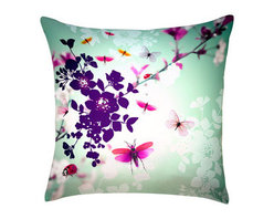 Digitally Printed Silk Butterfly Pillow - I usually go for more sedate cushions, but why not try something different? I could see this bright, digitally printed pillow right at home in a modern studio space with white walls and floors.