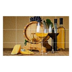 Picture-Tiles, LLC - Wine Grapes Picture Kitchen Bathroom Ceramic Tile Mural  18 x 30 - * Wine Grapes Picture Kitchen Bathroom Ceramic Tile Mural 1542