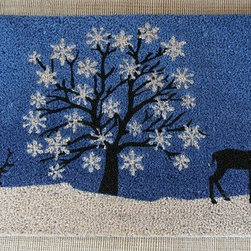 "CocoMatsNMore - CocoMatsNMore Relaxing Reindeer Vinyl Backed Coir Doormats- 18"" X 30"" - Eco-friendly Coco Mat are hand-woven and  made from 100% natural coir . These coco doormats are designed to last for a long time and are easy to maintain and clean by either shaking or hosing it down. Designed with fade-resistant dyes they are durable enough to withstand the harshness of weather and look good througout the year. Furthermore, they keep your house clean by doing a fabulous job of trapping the dirt, mud and debris right at the doorstep."