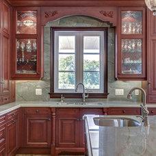 Contemporary Kitchen by Casa Loma Art Glass