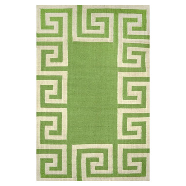 nuLOOM - nuLOOM Indoor/ Outdoor Flatwoven Greek Key Synthetics Rug, Mint, (8.6' X 11.6') - Material: 100% Polyester
