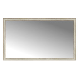 "Posters 2 Prints, LLC - 64"" x 37"" Libretto Antique Silver Custom Framed Mirror - 64"" x 37"" Custom Framed Mirror made by Posters 2 Prints. Standard glass with unrivaled selection of crafted mirror frames.  Protected with category II safety backing to keep glass fragments together should the mirror be accidentally broken.  Safe arrival guaranteed.  Made in the United States of America"