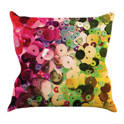 """Kess InHouse - Louise Machado """"Spots"""" Multicolor Sparkle Throw Pillow (16"""" x 16"""") - Rest among the art you love. Transform your hang out room into a hip gallery, that's also comfortable. With this pillow you can create an environment that reflects your unique style. It's amazing what a throw pillow can do to complete a room. (Kess InHouse is not responsible for pillow fighting that may occur as the result of creative stimulation)."""