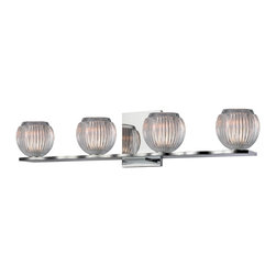 Hudson Valley - 3164-PC Odem Bath Vanity Light, Polished Chrome, Crystaline Glass - Modern Contempo Bath Vanity Light in Polished Chrome with Crystaline glass from the Odem Collection by Hudson Valley.