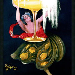 Amanti Art - Contratto (ca.1922) Framed with Gel Coated Finish by Leonetto Cappiello - You'll want to open a bottle of bubbly to match this vintage effervescent print by Italian-born graphic designer Leonetto Cappiello. It's finished with a protective coating that brings even more drama to the already rich colors and details and framed in satin-black laminate.
