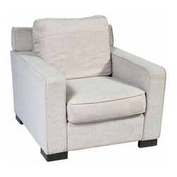 SOLD OUT!  Modern Linen Armchair - $1,198 Est. Retail - $360 on Chairish -