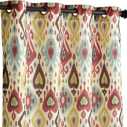 Ikat Jewel Print Curtain - I love ikat designs, and the colors in these drapes are perfect for lightening up your space.