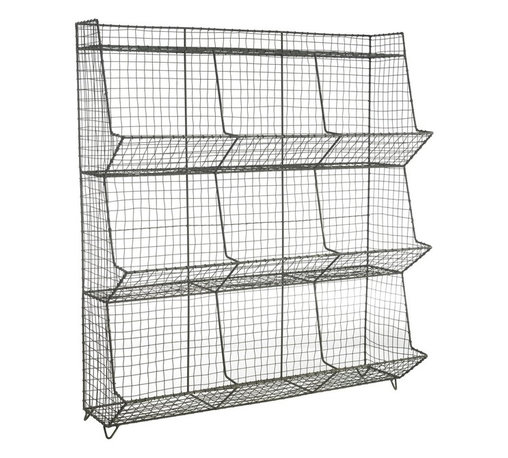 Wire Pigeon Holes - This floor standing Industrial Wire Pigeon Hole ...