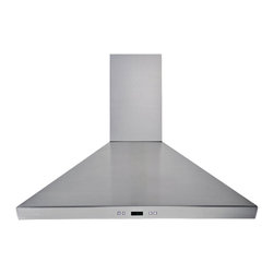 Cavaliere - Cavaliere-Euro SV218F-36 Stainless Steel Wall Mount Range Hood - Cavaliere Stainless Steel 218W Wall Mounted Range Hoods with 6 Speeds, Timer Function, LCD Keypad, Aluminum Grease Filters, and Halogen Lights.