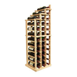Wine Cellar Innovations - Vintner Series Wine Rack - Waterfall 3 Falling Left - The Vintner Series WATERFALL1 Display provides the perfect showcase for the prized wine bottles you would like to show off. Individual bottle wine storage cascades down with a waterfall of display bottles on top. This waterfall option is compatible with the Vintner 3 column individual rack and can be combined with the WATERFALL1 and WATERFALL2 to create a larger cascade. You can have a waterfall display come out from a wall to the center of a room for a dramatic display effect. You may also choose to line a waterfall wine display along a wall. To achieve this unique look, we have a single bottle deep option that we have designed both in a left and right falling option. Product requires assembly. Moldings and platforms sold separately. Assembly required.