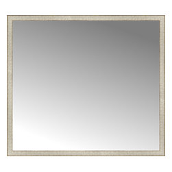 """Posters 2 Prints, LLC - 56"""" x 50"""" Libretto Antique Silver Custom Framed Mirror - 56"""" x 50"""" Custom Framed Mirror made by Posters 2 Prints. Standard glass with unrivaled selection of crafted mirror frames.  Protected with category II safety backing to keep glass fragments together should the mirror be accidentally broken.  Safe arrival guaranteed.  Made in the United States of America"""