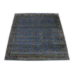 1800GetARug - Fine Khotan Vegetable Dyes Hand Knotted Rug Pure Silk Sh10661 - About Wool Pile
