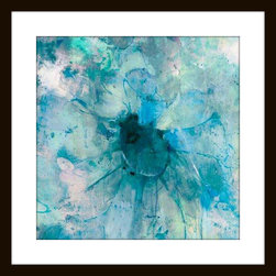"""Mantle Art Company - Jill Martin """"Teal"""" Modern Wall Art - Beautiful modern art custom framed by designers to bring out the best in this piece of art. Made in the USA"""