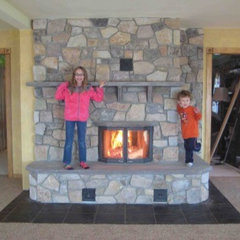 Fire Works Masonry &raquo; Reading, PA: Fieldstone, Double Bell, See-Thru Masonry Stov