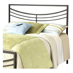 Hillsdale Furniture - Kingston Headboard in Brown Finish (King) - Choose Size: KingFor residential use. Premium full/queen 5-leg with large glides. Constructed from a sturdy heavy gauge tubular steel. Some assembly required. Full/queen: 60.75 in. W x 50 in. H. King: 76.75 in. W x 50 in. H. Frame: 71.5 in. L x 78 in. WHillsdale Furniture's contemporary Kingston bed features a perfectly angular silhouette softened by a concave arced design.