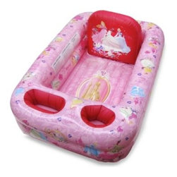 Disney Baby - Ginsey Disney Princess Inflatable Bathtub - This inflatable bathtub is so cute that your child may actually look forward to bath time! It's equipped with all the bathing basics and has plenty of storage pockets so parents can wash more and worry less.
