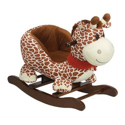 Fifthroom - Plush Gerry Giraffe Rocker - Gerry Giraffe is a wonderful first rocking toy for your youngster. Made of soft plush,  with a built in seat makes this a perfect cuddly friend for toddlers.