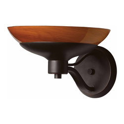 Triarch - Triarch Halogen Vi Wall Sconce X-ZB-16492 - Halogen VI - Beautiful Hand-Blown Amber Art glass, set in to warm Oil-Rubbed Bronze, is the key to this stunning look.