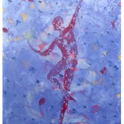 Light Dance (Original) by Emily Page - I started the dancer series in an effort to pay homage to my grandmother, Beatrice Allen Page, and my great aunt, Ruth Page, both of whom were dancers.