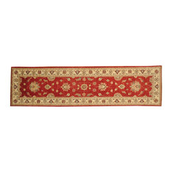 3'x10' Fine Peshawar Runner Hand Knotted 100% Wool Oriental Rug SH16359 - Hand Knotted Oushak & Peshawar Rugs are highly demanded by interior designers.  They are known for their soft & subtle appearance.  They are composed of 100% hand spun wool as well as natural & vegetable dyes. The whole color concept of these rugs is earth tones.