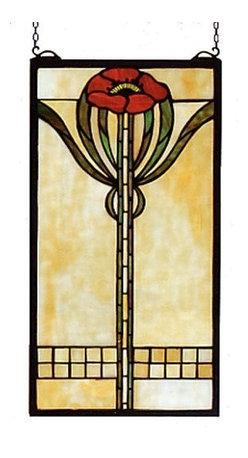 Meyda - 11 Inch W x 20 Inch H Parker Poppy Windows - Color theme: Beige flame IA 59