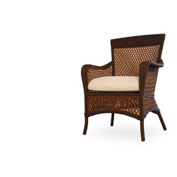 Outdoor Furniture - This grand traverse arm dining chair by Lloyd Flanders is the perfect outdoor seating option for your patio or deck. Share this with your friends if you think this looks comfortable. | Northern VA | Lawn & Leisure