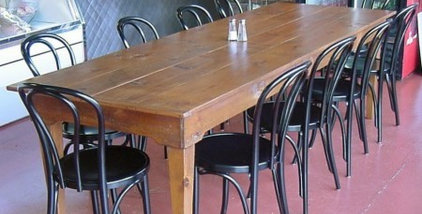 Bentwood Chair Black Finish Community Table Installation