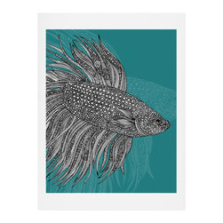 DENY Designs - DENY Designs Valentina Ramos Beta Fish Art Print - Finally an affordable wall art option! Order one statement print or live on the edge and dream up an entire gallery wall. And whether you frame it or hang it as-is, your walls will be big on inspiration while being kind on your pocketbook.