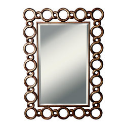 """Kichler - Cable Mirror - Features: -Mirror. -Cable collection. -Hand painted finish. -Frame Construction: Steel, Resin, and MDF. -Theme: Soft contemporary / casual lifestyle. -Overall dimensions: 52.25"""" H x 37"""" W x 1.25"""" D."""