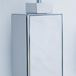WS Bath Collections - Urban Wall Soap Dispenser in Polished Chrome - Made in Spain. Product Material: Brass. Finish/Color: Polished Chrome. Dimensions: 3.9 in. W x 3.2 in. L