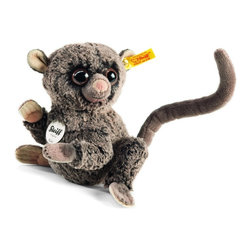 Steiff - Steiff Koko Tarsier - Steiff Koko Tarsier EAN 067334 is made of cuddly soft dark brown tipped plush. Ages 3 and up. Machine washable. Handmade by Steiff of Germany.