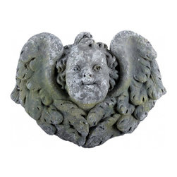Stone Angel Face - This is the dearest angel face that we have come across.  Vintage.