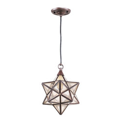 One Light Outdoor Pendant from the Marrakech Collection - I looked at this fixture to go over the clawfoot tub. It is a very affordable take on a very classic fixture.