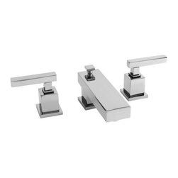"""Newport Brass - Newport Brass 2020 Cube 2 Double Handle Widspread Lavatory Faucet w/ Metal Lever - Cube 2 Double Handle Low Lead Widspread Lavatory Faucet with Metal Lever HandlesThe Newport Brass Cube 2 Collection will bring a cutting edge look to any household. Featuring straight lines, large flat faces, and sharp edges, the Cube 2 Collection is a great choice for anybody looking for a modern and minimalist look to their house. Newport Brass lavatory faucets are available in several different styles with 25 unique finish options. Every Newport Brass bathroom faucet is CA/VT low lead compliant and WaterSense certified. Solid brass construction and ceramic disc cartridges ensure that your Newport Brass bath faucet will last the test of time. You will see why Newport Brass boasts Flawless Beauty from Faucet to FinishFeatures:Double handle lavatory faucetADA compliant lever handlesBrass Valve Bodies. Valve Included.Quarter-turn washerless ceramic disc valve cartridgesPop-up drain with tail pieceCA/VT Low lead compliantWaterSense CertifiedSolid brassReadyship Available Finishes - Finishes guaranteed to be in stock by Newport BrassOil Rubbed BronzePolished NickelSatin NickelPolished ChromeFinish Features:Available in 25 beautiful finishesNew Industry Leading lacquer Finish ProcessIAPMO Certified and testedLong Life Finishes - 10 Year WarrantyDurable, color protected, scratch resistantGreen, low VOC, energy efficient finishing processSpecifications:Spout Reach: 4-15/16""""Spout Height: 1-7/16""""Overall Height: 3-1/2""""Handle Height: 3-1/2""""8"""" CentersLow Lead Compliant : YesWaterSense Certified : YesCenters : 8""""Material : Solid Brass1/2"""" valves"""
