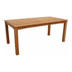 Anderson Teak - Bahama Rectangular Dining Table - Perfect for any setting or purpose. Compact and comfortable design built for a lifetime of use with any teak chair or bench.