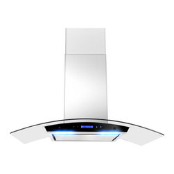 None - Golden Vantage 36-inch OSWRH198KZ4-36-AG Stainless Steel Wall Mount Range Hood - This range hood has a telescopic chimney and is ideal for 8-8.5 foot ceilings. The fan offers three different speeds,and has a max airflow rating of 760 CFM.