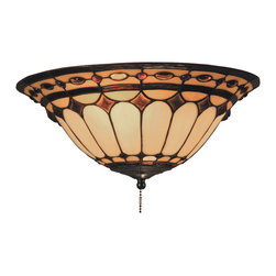 Elk Lighting - Diamond Ring 2-Light Ceiling Mount In Burnished Copper - This Forever Lasting Collection fits perfectly in just about every decor. The diamond ring pattern features oven-bent panels in hues of honey and amber which are enhanced by an exquisite blend of neutral toned stones and finished in a stately burnished copper (bc).