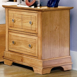 Vaughan Bassett - 2-Drawer Nightstand in Pine Finish - 2 Drawers. Pine finish. Assembly required. 22 in. W x 16 in. D x 24.5 in. H