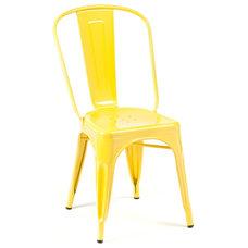 Industrial Living Room Chairs Marais A Side Chair, Yellow