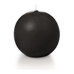 """Neo-Image Candlelight Ltd - Set of 6 - Yummi 2.8"""" Black Sphere Candles - Our unscented 2.8"""" Sphere Candles are ideal when creating a beautiful candlelight arrangement for the home or wedding decor.  Available in 44 trendy candle colors hand over dipped with white core to match and compliment your home decor or wedding centerpiece decoration."""