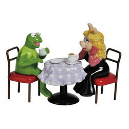 Westland - Kermit and Miss Piggy on Coffee Date Salt and Pepper Shakers - This gorgeous 4.25 Inch Kermit and Miss Piggy on Coffee Date Salt and Pepper Shakers has the finest details and highest quality you will find anywhere! 4.25 Inch Kermit and Miss Piggy on Coffee Date Salt and Pepper Shakers is truly remarkable.