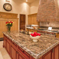 mediterranean kitchen islands and kitchen carts by BedBrock Developers, LLC