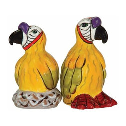 WL - 3 Inch Safari Parrot Salt and Pepper Shakers Kitchenware Collectible - This gorgeous 3 Inch Safari Parrot Salt and Pepper Shakers Kitchenware Collectible has the finest details and highest quality you will find anywhere! 3 Inch Safari Parrot Salt and Pepper Shakers Kitchenware Collectible is truly remarkable.