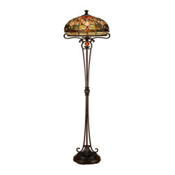 Dale Tiffany - Dale Tiffany TF13066 Briar Dragonfly 2 Light Torchiere Lamp - Features: