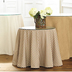 Ballard Designs - 90 inch Basic Tablecloth - It's decorating made easy. Simply choose a Tablecloth in one of our many fabrics, and pair it with one of our Terrific Tables or a similarly sized table of your own.