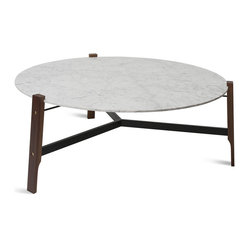 Blu Dot - Blu Dot Free Range Coffee Table - Marble means luxury and steel defines modern. Put the two together and you've got the ultimate piece for your sleek, sophisticated decor.