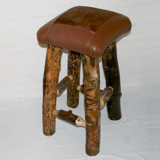 Eclectic Bar Stools And Counter Stools by JHE's Log Furniture Place